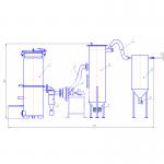 Газовый генератор на твёрдом топливе для электростанции
