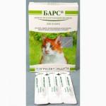 Барс капли от блох/клещей для кошек (3пип/в уп)45грн