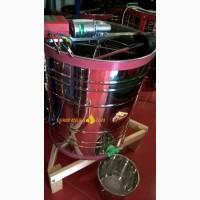 Медогонка «Японка» Euro4Е НТЦ с поворотом кассет 4-х рамочная нержавеющая с червячным эл