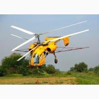 Послуги з обприскування озимого гороху НС Мороз вертольотами