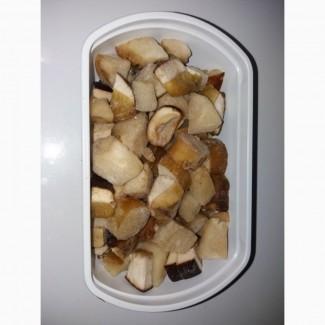 Кубік білого гриба морожений