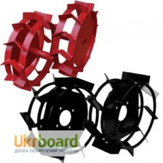 Грунтозацепы, ступицы, колеса металлические к мотоблоку