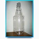 Бутылка ПЭТ для напитков 1 литр с крышкой