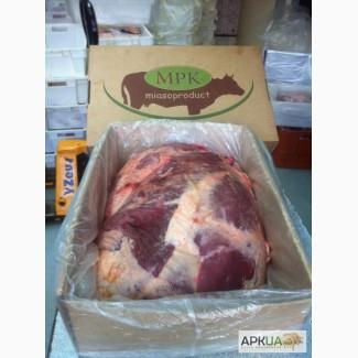 The back of the beef with rump+shank in packaging- Задняя часть говядины голяшка