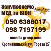 Закупаем оптом мед и воск центральные области Украины