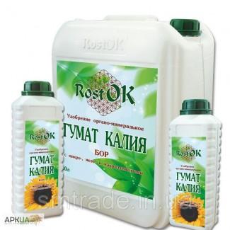 Удобрение органо-минеральное Гумат Калия РОСТ ОКТМ БОР