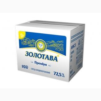 Спред сладкосливочный Золотава Премиум 72, 5% брикет 5/10/20 кг