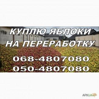 Куплю яблоки оптом на переработку, по всей территории Украины