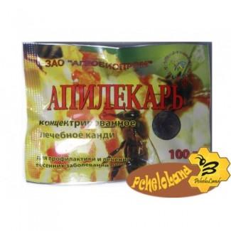 Апилекарь(1 пак.х 100 г. на 1 пчелосемью)