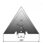 Лапа сеялки Flexi Koil стрельчатая, ширина 330мм