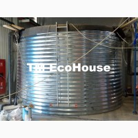 Резервуар в помещении стальной пластиковый 20 50 100 200 м3