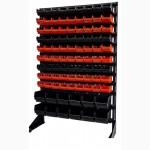 Стеллаж с траверсами и ящиками для метизов, крепежа 93 шт.+ Высота 1, 5м