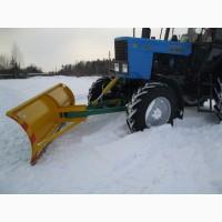 Поворотный отвал снегоуборочный на МТЗ, ЮМЗ