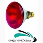 Инфракрасная лампа 175 Вт красная из прессованного стекла