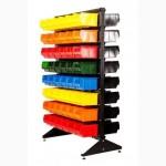 Ящики пластиковые для метизов на стойке (стеллаже) в гараж, магазин, склад