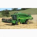 Уборка зерновых комбайном John Deere