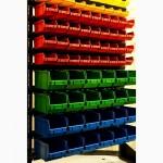 Ящик складской пластиковый под метизы и стеллаж