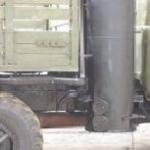 Газогенератор на твёрдом топливе для грузового автомобиля