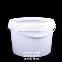 Пластикове відро харчове, 11л. з ручкою