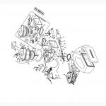 Вал F08011715R карданный (с обгонной муфтой) сеялки Gaspardo (МТ-8)