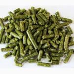 Травяные гранулы из сена люцерны